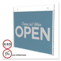Deflecto Classic Image Single-Sided Wall Sign Holder Plastic 11 x 8 1/2 Insert