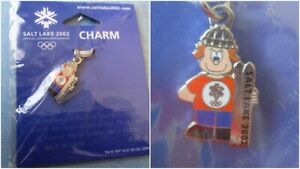 Boy with Skis - Salt Lake 2002 Olympic Ski Charm Winter Olympics New in Package