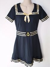 Sailor Sweetie Girls Sailor Halloween Costume With Hat and Armbands Size L