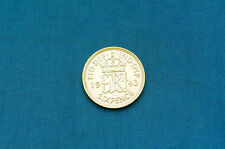 1943 Great Britain Sixpence Silver Coin