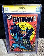 Batman #423 (DC Comics, 1988) 1st Print CGC 9.8 White Pages🔥 McFarlane Signed