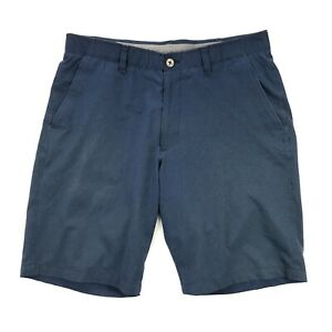 Under Armour Mens 36  Match Play Vented Blue Golf Shorts Stretch