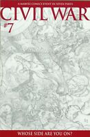 CIVIL WAR #7 1:75 TURNER SKETCH INCENTIVE VARIANT NM- PRIORITY & FREE INSURANCE