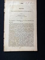 Rare US Navy Marines 1821 Report The Committee of Expenditures to US House Rep