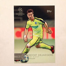 BRECHT DEJAEGERE #192 KAA GENT #ed/10 Made 2016 Topps Champions UEFA 5X7 GOLD