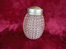 "Vintage Pineapple Squares Lamp Shade Clear Glass 8"" With Hanging Cap Pendant"
