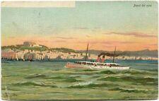 1905 Napoli barche Grand Hotel Du Vesuve York USA FP COL VG ANIM