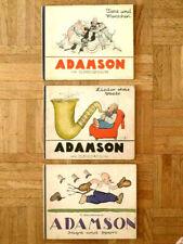 O. Jacobsson - ADAMSON, 3 Bücher, 1. Auflage 1926-28