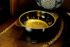Stainless Steel Dog Bowl Puppy Cat Feeder Pet Food Water Dish USED