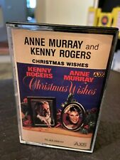 Anne Murray and Kenny Rogers Christmas Wishes Cassette tape Axis carols VG 1981