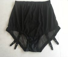 Vintage 1960's Black mesh Girdle With Garters, never worn, Xl Style 1021