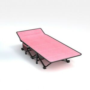 Folding Camping Bed Military 2-Layer Heavy Duty Sleeping Cot Carry Bag&Mattress