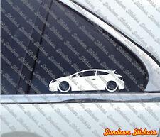 2x Tuning stickers auto aufkleber - for Opel Astra J OPC / GTC 3-door (mk6)