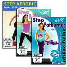 3 DVD Fitness Set - 3x Step Aerobic Fatburner für Stepper Steppbrett Bord - Neu