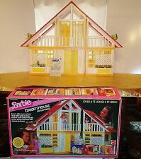 Vintage 1978 Barbie Dream House A Frame Red Yellow White Mattel Complete in Box
