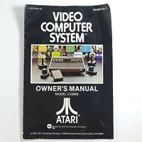Vintage Atari Owners Manual Only 2600 CX2600 Video Computer System 1978