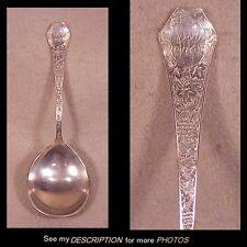 Antique SSMC Sterling Silver Serving / Berry Spoon Grape Pattern