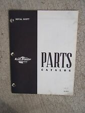 1957 Scott Atwater Royal Scott Outboard Motor Parts Catalog  LOTSA BOAT BOOKS  U