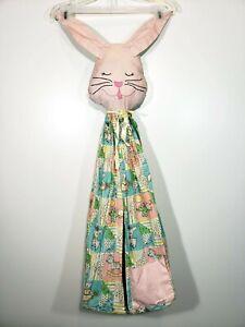 Vintage Rabbit Bunny Diaper Holder Stacker Keeper Hanging Hanger Baby Nursery