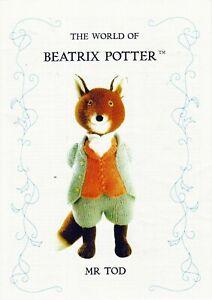 BEATRIX POTTER  MR TODD   TOY/DOLL TDB  KNITTING PATTERN