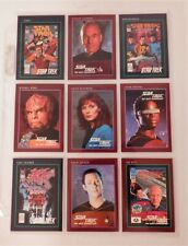 Lot of 9 Star Trek Trading cards in protective sleeve