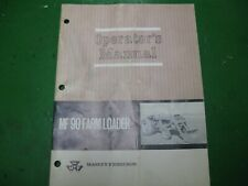 Massey Ferguson Mf90 Mf 90 Farm Loader Manual Original