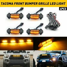4x Grille LED Light Raptor Style Amber Lens For 2016-2018 Toyota Tacoma TRD Pro