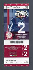 2009 MLB WORLD SERIES FULL UNUSED BASEBALL TICKET PHILLIES @ YANKEES GAME #2