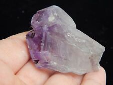 Purple Quartz Amethyst Crystal Embedded Mineral Rock Display Stone