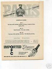 Schenley Whiskey Corday Perfume Original Vintage Ad