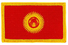 FLAG PATCH PATCHES Kyrgyzstan  IRON ON COUNTRY EMBROIDERED SMALL