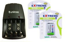 UNiROSS AA/AAA/PP3 9v CHARGER+ 2 x PP3 280 mAh EXTREME