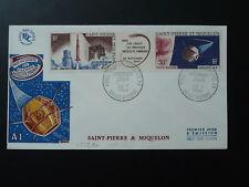 space teleommunications satellite A1 1966 FDC Saint Pierre & Miquelon 80153