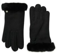 UGG Australia Black Shearling Sheepskin Women's Gloves SZ S