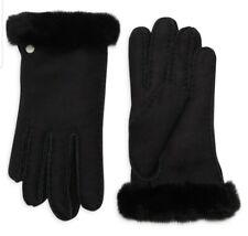 UGG Australia Black Shearling Sheepskin Women's Gloves SZ M