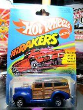 HOTWHEELS...VINTAGE <> 1979 CARDED '40'S WOODIE WAGON HIRAKERS