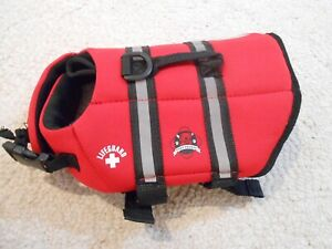 Brand New Red dog Paws Aboard life jacket size XS for a yorky sized dog