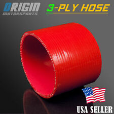 4″ 3-PLY STRAIGHT COUPLER SILICONE HOSE TURBO INTAKE INTERCOOLER PIPE RED
