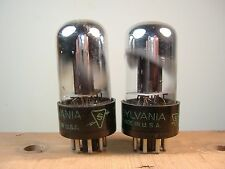 Sylvania 3 hole plate 6SN7GT vacuum tubes matched and guaranteed 1953 prod.