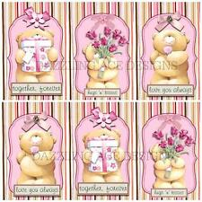 12 LUVABLE LULLABY TEDS SET 1  Toppers, Embellishments, Card Making, Crafting