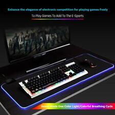 Large LED RGB Mouse Pad Lighting Gaming Mousepad Desktops Keyboard Mice Mat