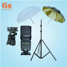"Yongnuo YN-560IV Flash Speedlite + Light Stand + Bracket B + 2pcs 33"" Umbrella"