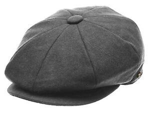 Men's Wool Newsboy Hat, Plain Applejack Gatsby Driving Cap