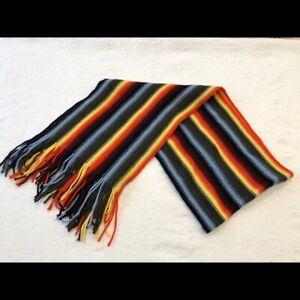 100% Wool Rainbow Scarf