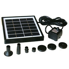 Solar Powered Water Panel Submersible Fountain Pump Garden Watering Pool 500L/H