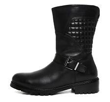Blondo Vinita Waterproof Moto Leather Boot Black Women Sz 7.5 M 5829 *
