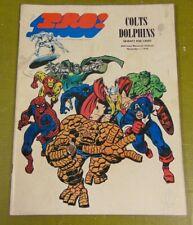 1970 Nfl Pro Magazine Comic Book Super Hero Baltimore Colts V Miami Dolphins Vgc