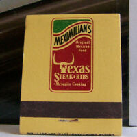 Rare Vintage Matchbook Cover D1 Texas Meximilian's National Cookoff Winner Ribs
