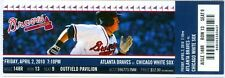 2010 Braves vs White Sox Ticket: Gavin Floyd and Tommy Hanson Faced Off