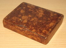 GERMAN WWII WEHRMACHT CIGARETTES / CIGARS CASE, BROWN BAKELITE, LATE WAR
